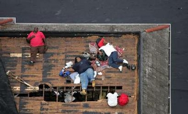Hurricane Katrina Rescues And Looting At Home Men And