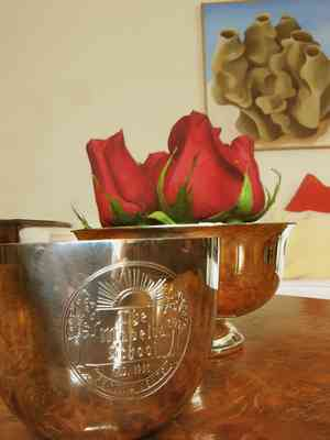 Madeira School pewter cup
