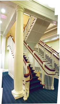 Parrish Hall, Swarthmore College, Central Staircase